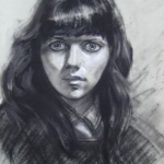 CJA portrait study 207 (of woman with staring eyes)
