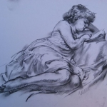 CJA figure study 54 (woman reading)
